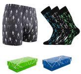 Pánské ponožky LONKA Deskeleton 3 páry + boxerky LONKA Kevin skeleton
