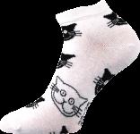 Ponožky Boma Piki 52 - kočky bílá