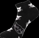 Ponožky Boma Piki 52 - kočky černá