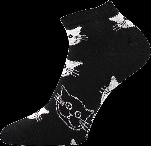 Ponožky Boma Piki 52 - kočky černá 71c3644340