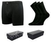 Ponožky LONKA Dypak černá 3 páry + boxerky LONKA Bernard černá