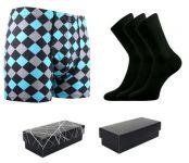 Ponožky LONKA Dypak černá 3 páry + boxerky Kevin LONKA modal I