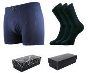 Ponožky LONKA Dypak tmavě modrá 3 páry + boxerky Bernard tmavě modrá