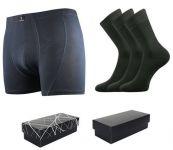 Ponožky LONKA Dypak tmavě šedá 3 páry + boxerky Bernard tmavě šedá
