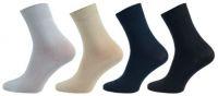 Dámské ponožky NOVIA Klasik 100% bavlna modrá