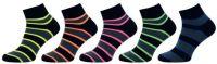 Dámské ponožky NOVIA vyšší lem pruhované černá