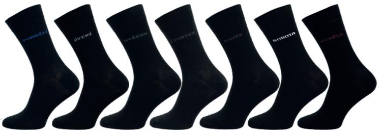 """Pánské ponožky NOVIA 1S Dny v týdnu """"Multipack"""" - 7 párů"""