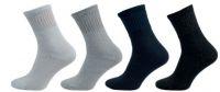 Ponožky NOVIA froté citlivý svěr lemu tmavě šedá