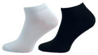 Ponožky NOVIA kotníkové hladké černá