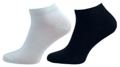 47d44de2835 Ponožky NOVIA kotníkové hladké černá