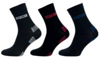 Ponožky NOVIA Sport Excellent černá/červená