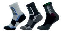 Ponožky NOVIA TREK černo-šedá
