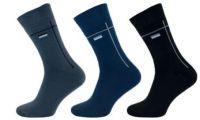 Ponožky NOVIA froté vzor černá