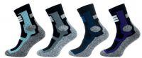 Ponožky NOVIA CROSS fialový pruh