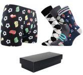 Pánské ponožky LONKA Woodoo 3 páry + boxerky LONKA Kevin fotbal