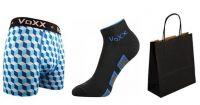 Pánské ponožky VoXX Dukaton černá + boxerky VoXX Kvido modrá
