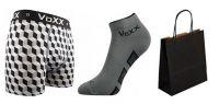 Pánské ponožky VoXX Dukaton šedá + boxerky VoXX Kvido šedá