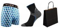 Pánské ponožky VoXX Maxter černá + boxerky VoXX Kvido modrá