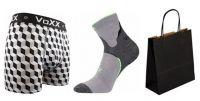 Pánské ponožky VoXX Maxter šedá + boxerky VoXX Kvido šedá