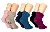 Počesané ohrnovací ponožky varianta 3 - 2 páry