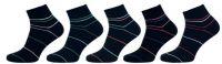 Dámské ponožky NOVIA vyšší lem pruhované černá 2