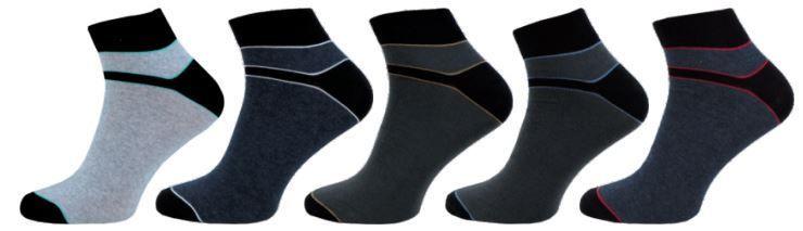 Pánské ponožky NOVIA vyšší lem pruhované černá