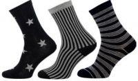 Dámské ponožky NOVIA Lurex mix B - 3 páry