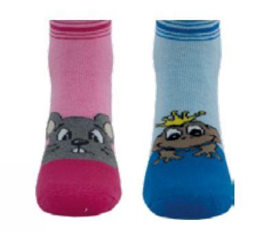 Dětské ponožky NOVIA froté Žabka růžová