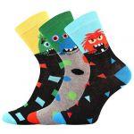 Dětské ponožky LONKA Ufonek mix B - 3 páry