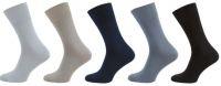 Zdravotní ponožky bez gumy s bio bavlnou a stříbrem NOVIA MIX 5 párů