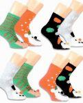 Žinylkové ponožky s bambulkou barevná+černá - 2 páry