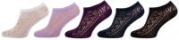 Dámské ponožky NOVIA krajka bílá - 5 párů