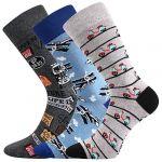 Pánské ponožky LONKA Depate mix O - 3 páry
