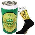 Ponožky VoXX PiVoXX černá + plechovka