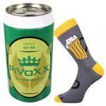 Ponožky VoXX PiVoXX tmavě šedá + plechovka
