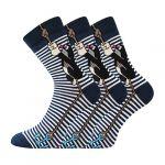 Pánské ponožky Boma KR 111 modrá - 3 páry