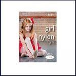 Dívčí punčochové kalhoty Boma GIRL NYLONtights 20DEN bianco