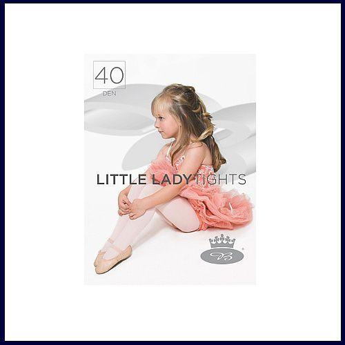 Dívčí punčochové kalhoty Boma LITTLE LADYtights bianco