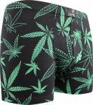 LONKA pánské boxerky Cannabis černá