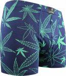 LONKA pánské boxerky Cannabis tmavě modrá