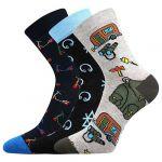 Dětské ponožky Boma 057-21-43 XI mix A - 3 páry