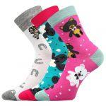 Dětské ponožky Boma 057-21-43 XI mix D - 3 páry