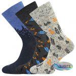 Pánské ponožky LONKA Harry mix E - 3 páry