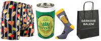 Pánské ponožky LONKA PivoXX v plechovce + boxerky LONKA Kevin fastfood