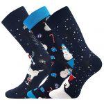 Ponožky Boma Vánoční mix D - 3 páry