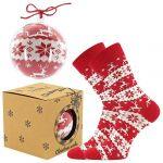 Ponožky LONKA Elfi červená