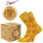 Ponožky LONKA Elfi zlatá