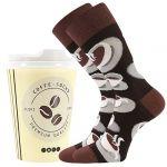 Ponožky LONKA Coffee socks - vzor 1