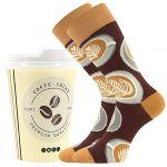 Ponožky LONKA Coffee socks - vzor 2