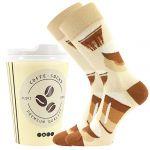 Ponožky LONKA Coffee socks - vzor 3